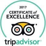 TripAdvisor 2017 Certificate of Excellence Award